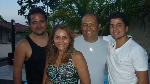Rodrigo Branco, Vera e Roberto Branco com Felipe Branco