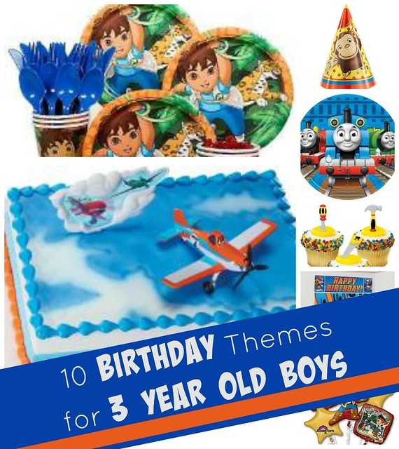 10 birthday themes for 3 year old boys