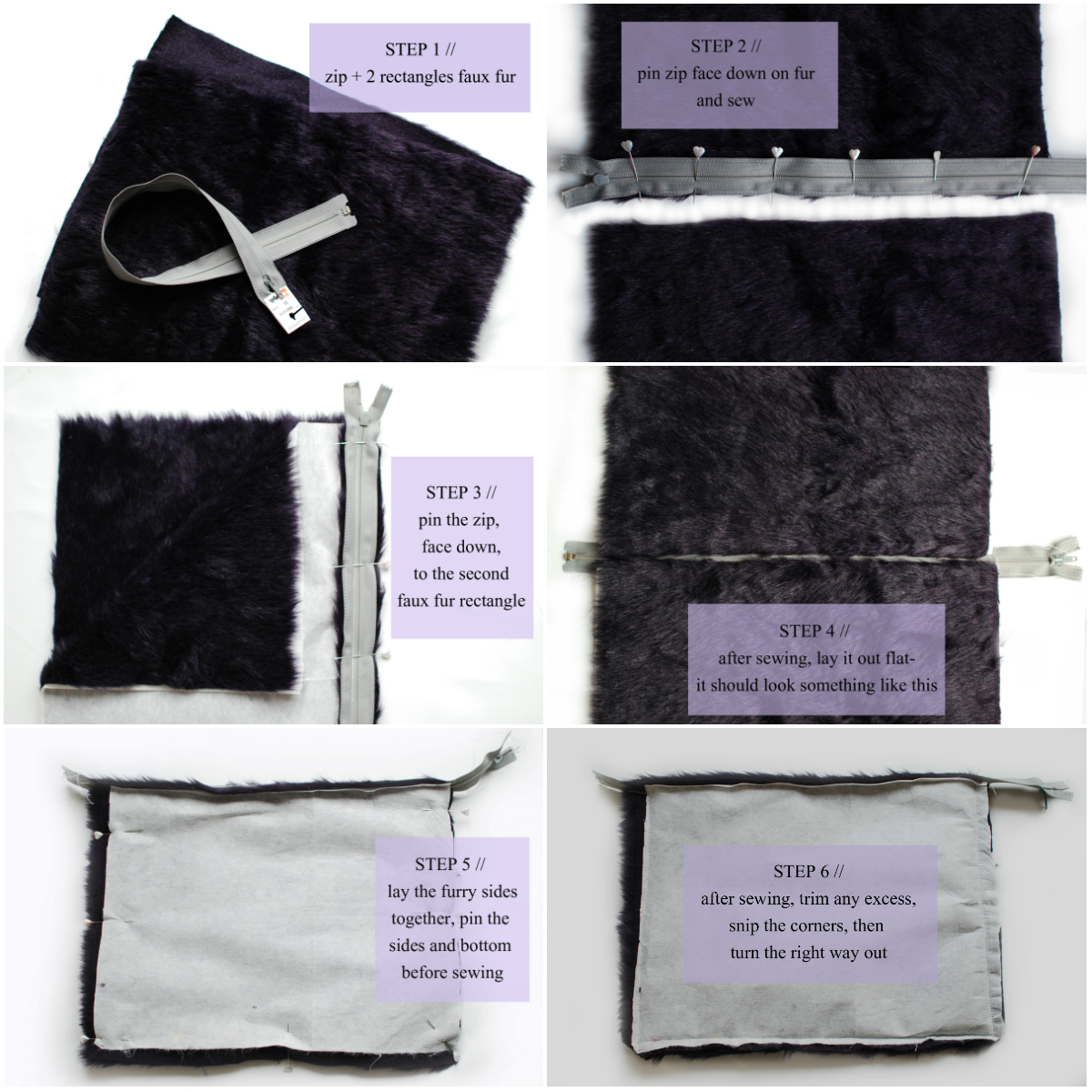 Directions How to make a DIY Clutch