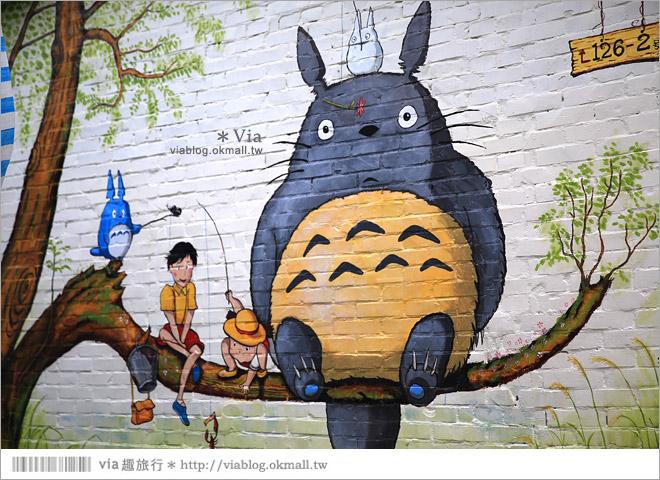 【大內龍貓公車站】台南龍貓公車站彩繪村~來去大內區石林里,陪龍貓等公車去!17
