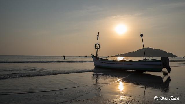Barca en la playa de Palolem