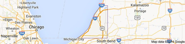Map of Berrien County, MI