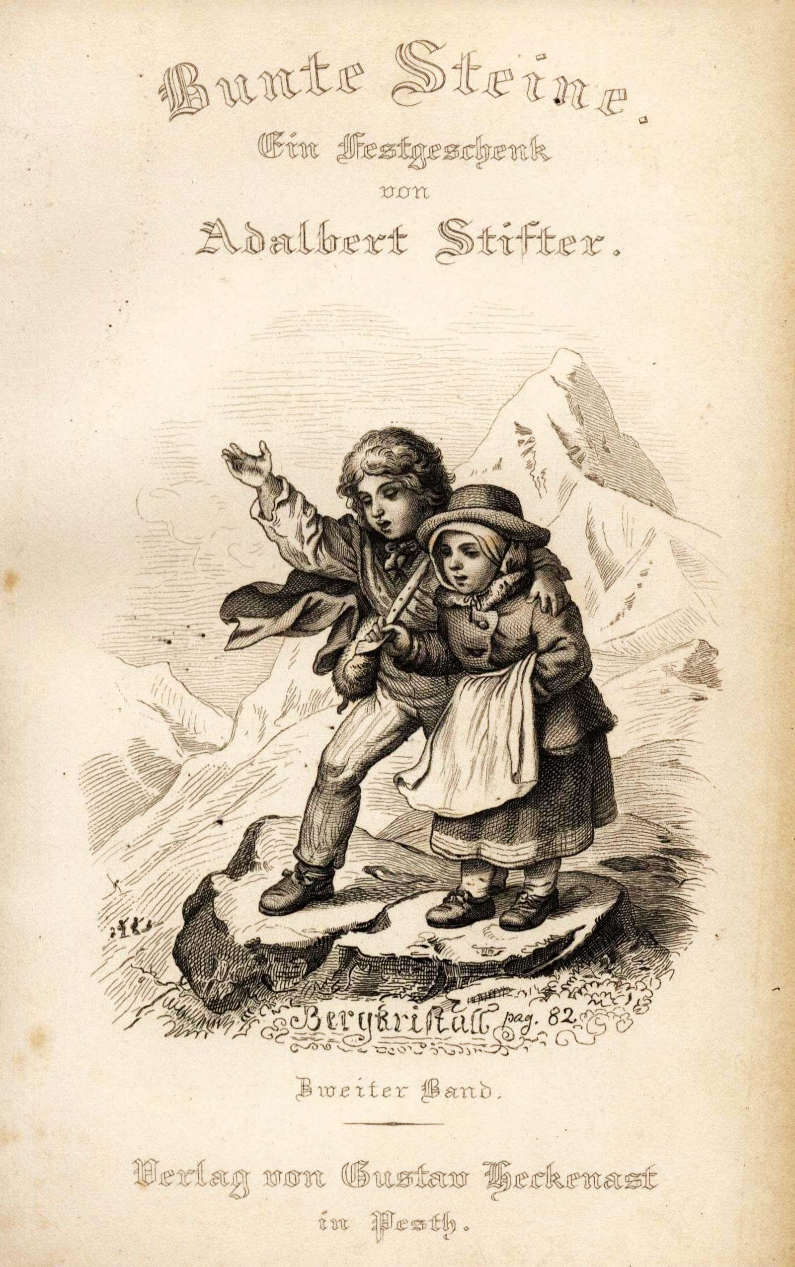 Ludwig Richter, Frontispiz zu Adalbert Stifter, Bunte Steine, 1853, Band 2