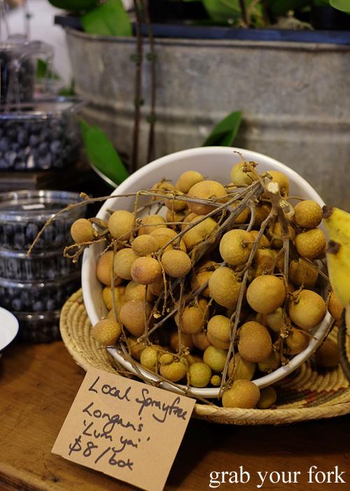 Fresh longans at Jarern Chai Asian Grocer, Sydney