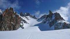 Wejscie na przełęcz Col Superieur de Tour.