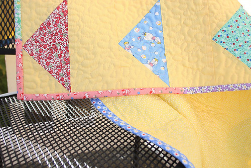 Bunting 1930's Reproduction Baby Quilt