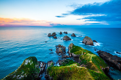 ocean new travel sunset sea green point waves hiking hike zealand pathway nugget