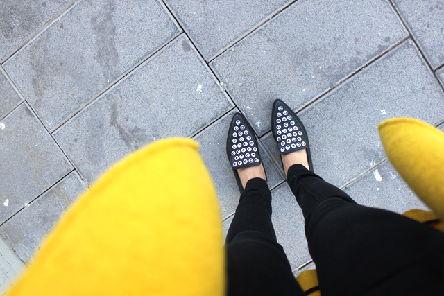 yellow coat fashion shoes coohuco 14