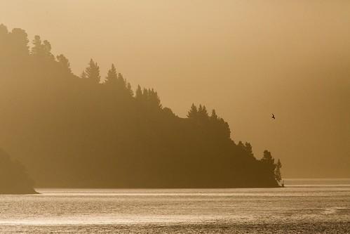 Sunset at Marlborough Sound.
