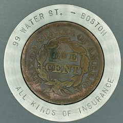 1847 cent rev SS Encased