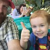 Another happy day in Disneyland. Cohen is having a blast.