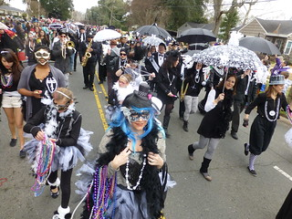 Blanc et Noir Marching Society, Krewe of Highland Parade, Shreveport
