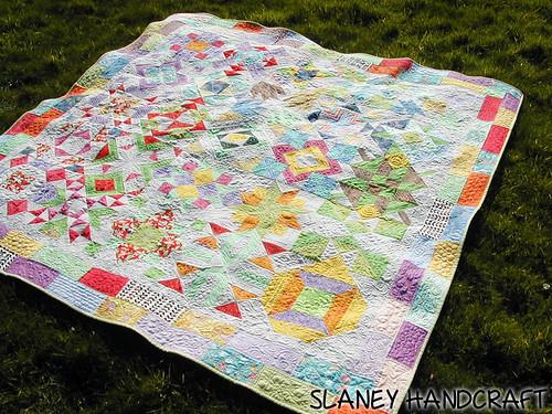 Sampler mix up quilt