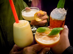 caipiroska(0.0), mojito(0.0), limeade(0.0), singapore sling(0.0), caipirinha(0.0), non-alcoholic beverage(1.0), piã±a colada(1.0), distilled beverage(1.0), bloody mary(1.0), produce(1.0), food(1.0), drink(1.0), cocktail(1.0), margarita(1.0), mai tai(1.0), alcoholic beverage(1.0),