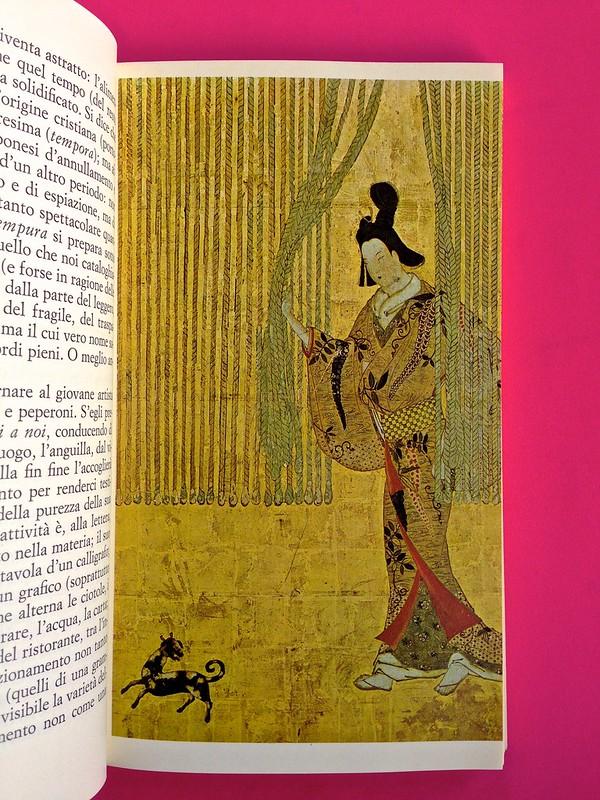 Roland Barthes, L'impero dei segni. Einaudi 1984. Illustrazione col. a tutta pagina, a pag. 33 (part.), 1