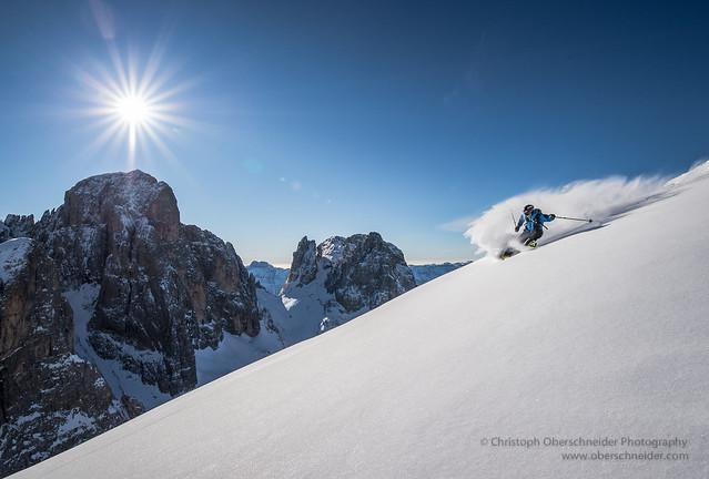 Dolomite Powder Skiing