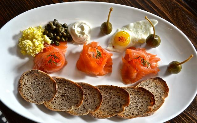 smoked salmon platter - elevage restaurant, tampa florida