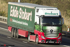 Mercedes Benz Actros 4x2 - GK12 UAR - H3333 - Leah Faye - Eddie Stobart - M1 J10 Luton, Bedfordshire - Steven Gray - Steven Gray_63