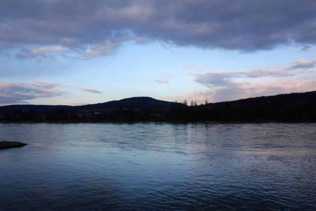 Late afternoon peace across the Rhine, Bonn