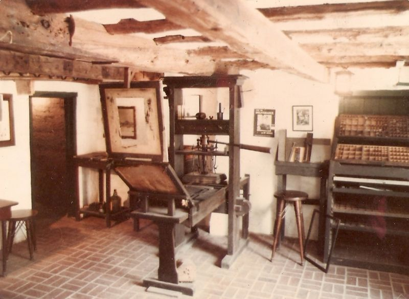 Replica of Gutenberg press at the Featherbed Alley Printshop Museum, in Bermuda