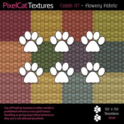 PixelCat Textures - Colab 117 - Flowery Fabric