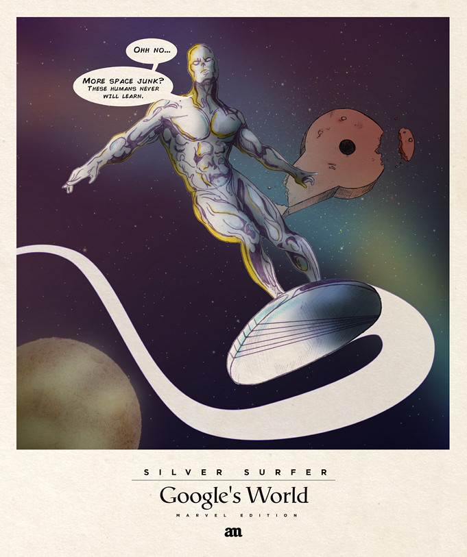 Silver Surfer 'Google's World - Marvel Edition'
