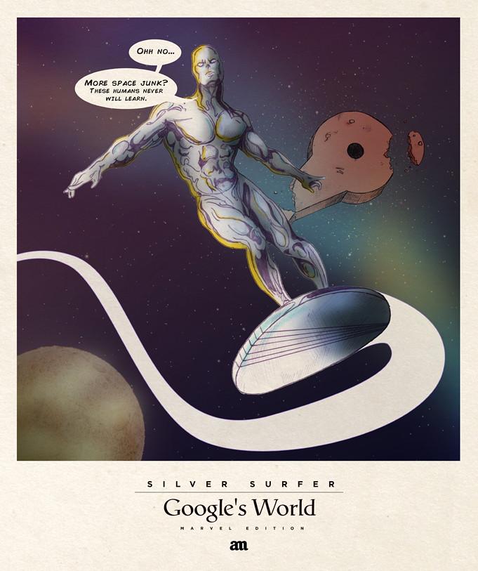 Silver Surfer 'Google's World - Marvel Edition'