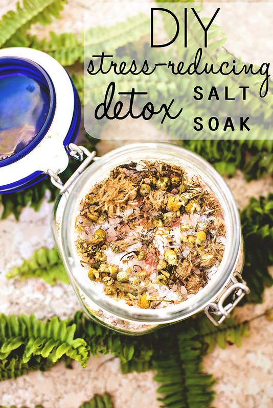 DIY stress-reducing detox salt soak #StressLess2BmyBest #CleverGirls