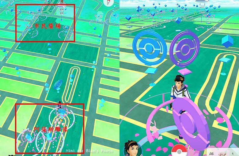 台中pokemongo寶可夢櫻花熱點補給站11