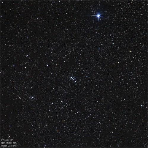 november sky night canon stars timelapse open space cluster nightsky opencluster messier constellation 6d 2014 m103 cassiopeia canon6d astrometrydotnet:status=solved tomwildoner astrometrydotnet:id=nova947197