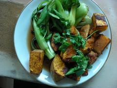 Chilli pepper pumpkin with Asian veg