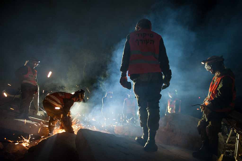 Search and Rescue Units Exercises at Night