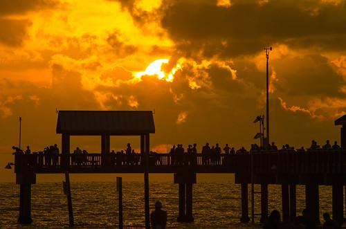 sunset geotagged pier clearwaterbeach 60 pier60 sunsetsatpier60