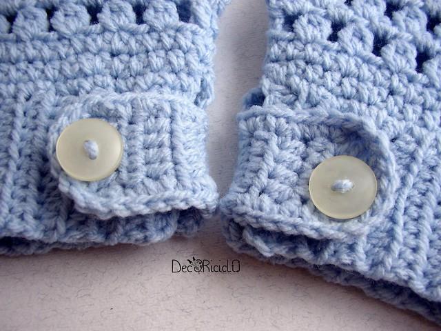 guanti senza dita lana acrilica azzurra  5