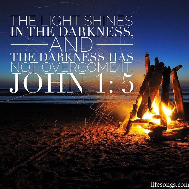 Porch Light Quotes: John 1:5 #Bible #BibleVerse #inspirational #quotes