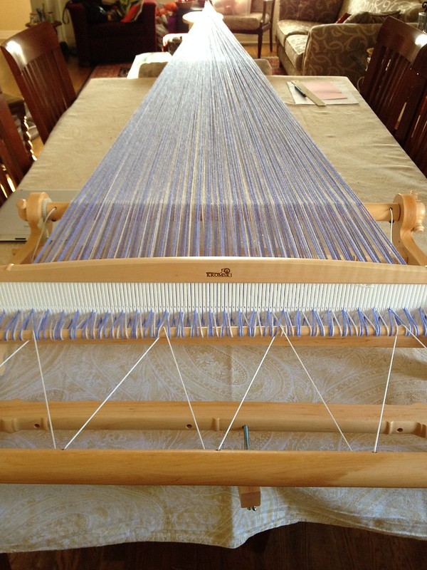 My new Harp and its first warp.