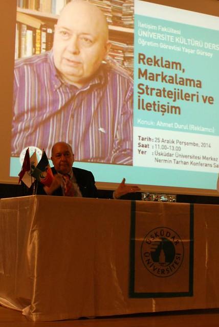Reklam sektörünün bilinen ismi Ahmet Durul iletişim öğrencileriyle buluştu.