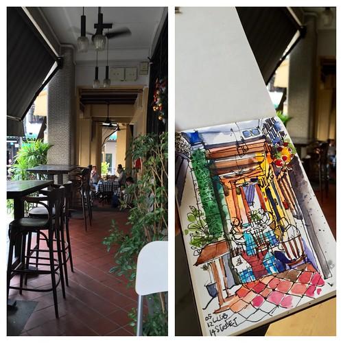 Sketching Club Street, Singapore