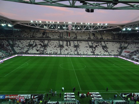 Pre-match at the Juventus Stadium, Turin