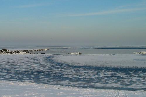 Icy Long Island Sound