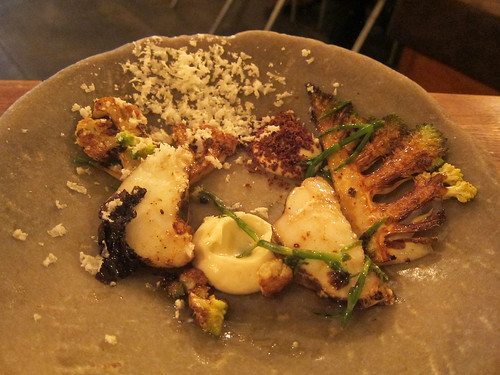 'Julie Girl' monkfish, toasted cauliflower, romanesco, dulse butter