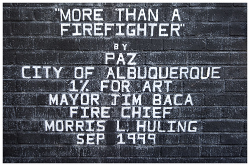 ABQ Downtown FIre Station Fireman More Than A Pirefighter 3D Mural Sign