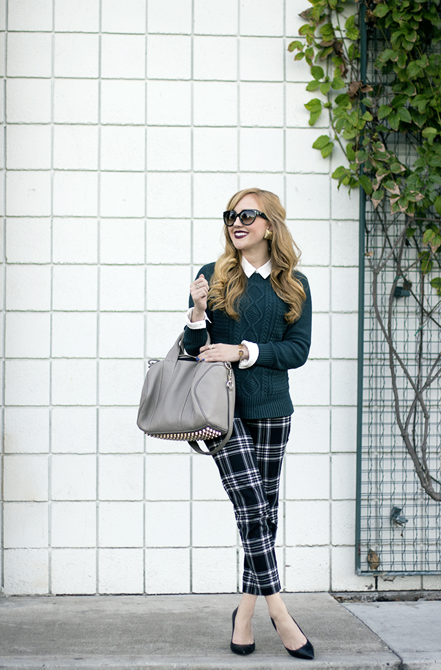old navy black and white plaid pixie pants