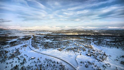 winter panorama norway norge aerial aerialphoto venabu oppland aerialimage venabygd venabufjellet venabygdfjellet voigtlanderheliar15mm multirotor multicopter sonya7r