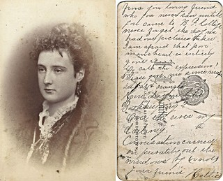 Hattie Cannon, Bordentown Female College (CDV by J.E. Smith, 98 Main Street, Bordentown, New Jersey)