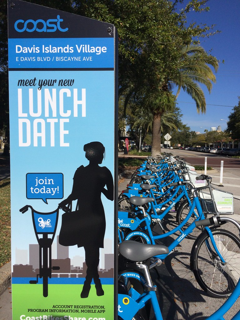 Tampa Davis Island bike share