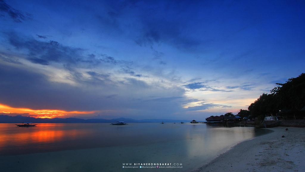 Panagsama Beach sunset moalboal cebu