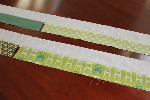 Windmill Block - Sewing Strips 1
