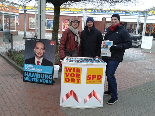 Infostand in Marmstorf am 24. Januar 15