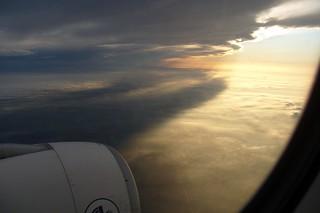SUNRISE FROM A330 F-GZCA FLIGHT PHL-CDG